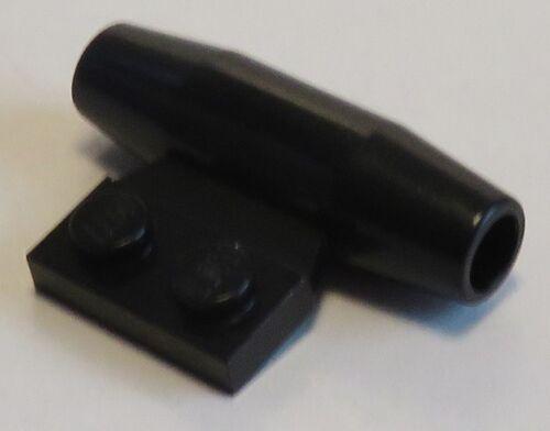 2 Stück Motor / Düse / Engine mit 1 x 2 Seitenplatte LEGO schwarz #3475b