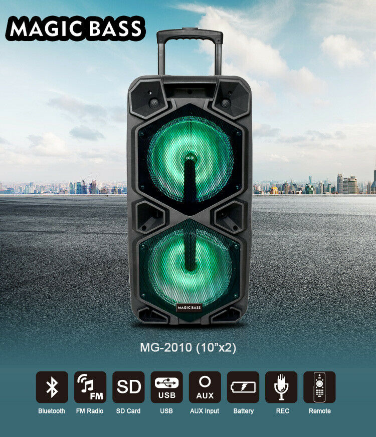 MG SP-210RBT Rechargeable Karaoke Party Speaker System blueetooth 4000w MagicBass