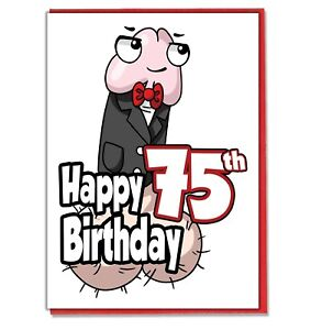 Image Is Loading Funny Willy 75th Birthday Card Ladies Friend BFF