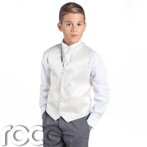 Page Boy Suits Boys Ivory /& Grey Suit Boys Wedding Suits Boys Suits Diamond