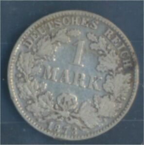 German-Empire-Jagerno-9-1873-D-ext-fine-Silver-1873-1-Mark-7849060
