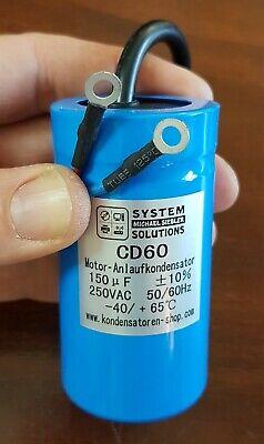 Anlaufkondensator//Motor-Start-Kondensator CD60 400uF//µF 250 VAC mit Kabel