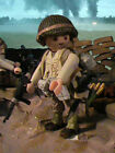 PLAYMOBIL CUSTOM US 457 TH ARTILLERY BATTALION (NORMANDIA-1944) REF-0170 BIS