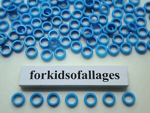 200-KNEX-BLUE-SPACER-RINGS-Bulk-Standard-Parts-Pieces-Washers-Bushings-Spacers