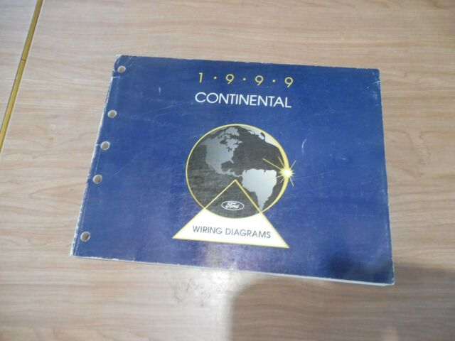 1999 Ford Continental Electrical Diagrams Manual Service