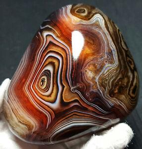 TOP-274-3G-Natural-Polished-Banded-Agate-Crystal-Madagascar-Healing-WQ686