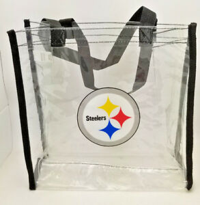 30c58a663ad Image is loading Pittsburgh-Steelers-Clear-Reusable-Bag-NFL-Entry-Compliant-