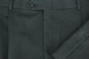 Austin Reed Men S Dark Green Twill All Season Wool Dress Pants 35 X 32 Ebay