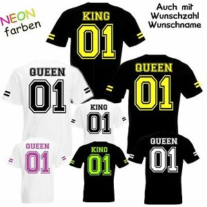 Partner-Look-T-Shirt-KING-PRINCE-QUEEN-PRINCESS-mit-Wunschzahl-college-style