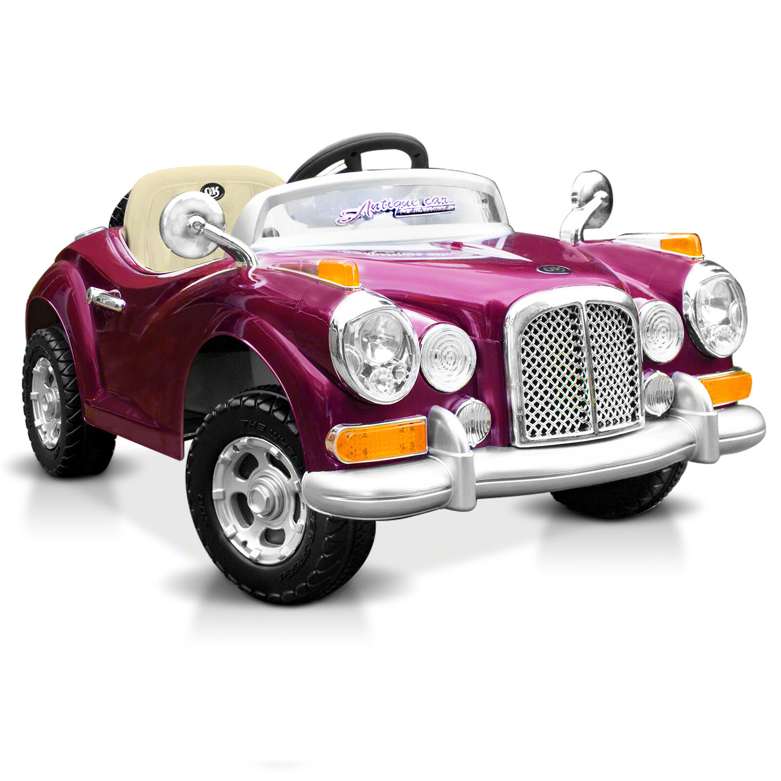Beautiful Glossy Painted Kids Ride On Car Classic Vintage Rolls Royce Style