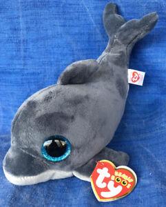 1817ac77f8f w-f-l Ty Beanie Boos Echo Dolphin Fish 5 7 8in Glubschi Boo ´s ...