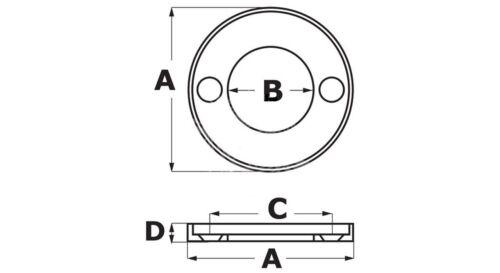 Zink-Anode Ring Kragenanode VO 100 100B 100S 13xØ98mm Volvo Penta OEM 875810