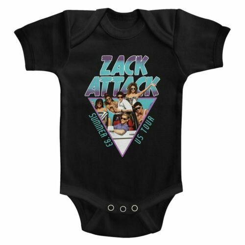 Saved by the Bell Infant Baby Short Sleeve Bodysuit Black Summer Tour /'93 Romper