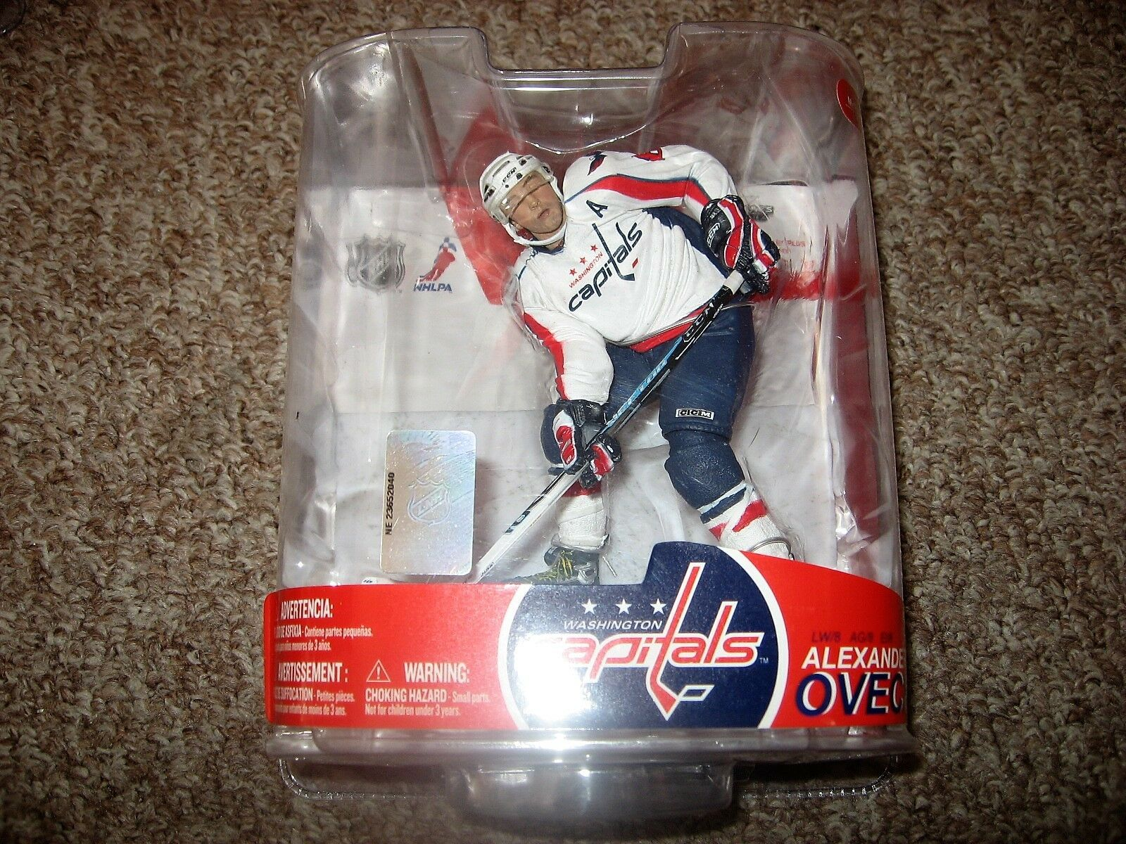McFarlane NHL 2007 Series Series Series 17 Alex Ovechkin Washington Capitals bianca -Variant 6e9431