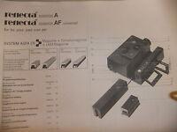 Instructions slide projector REFLECTA DIAMATOR A & AF -  CD/EMail