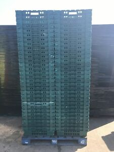 20 x Bail Arm Crates / Bale Arm 60 x 40 x 20cm  Plastic Boxes Stacking Trays