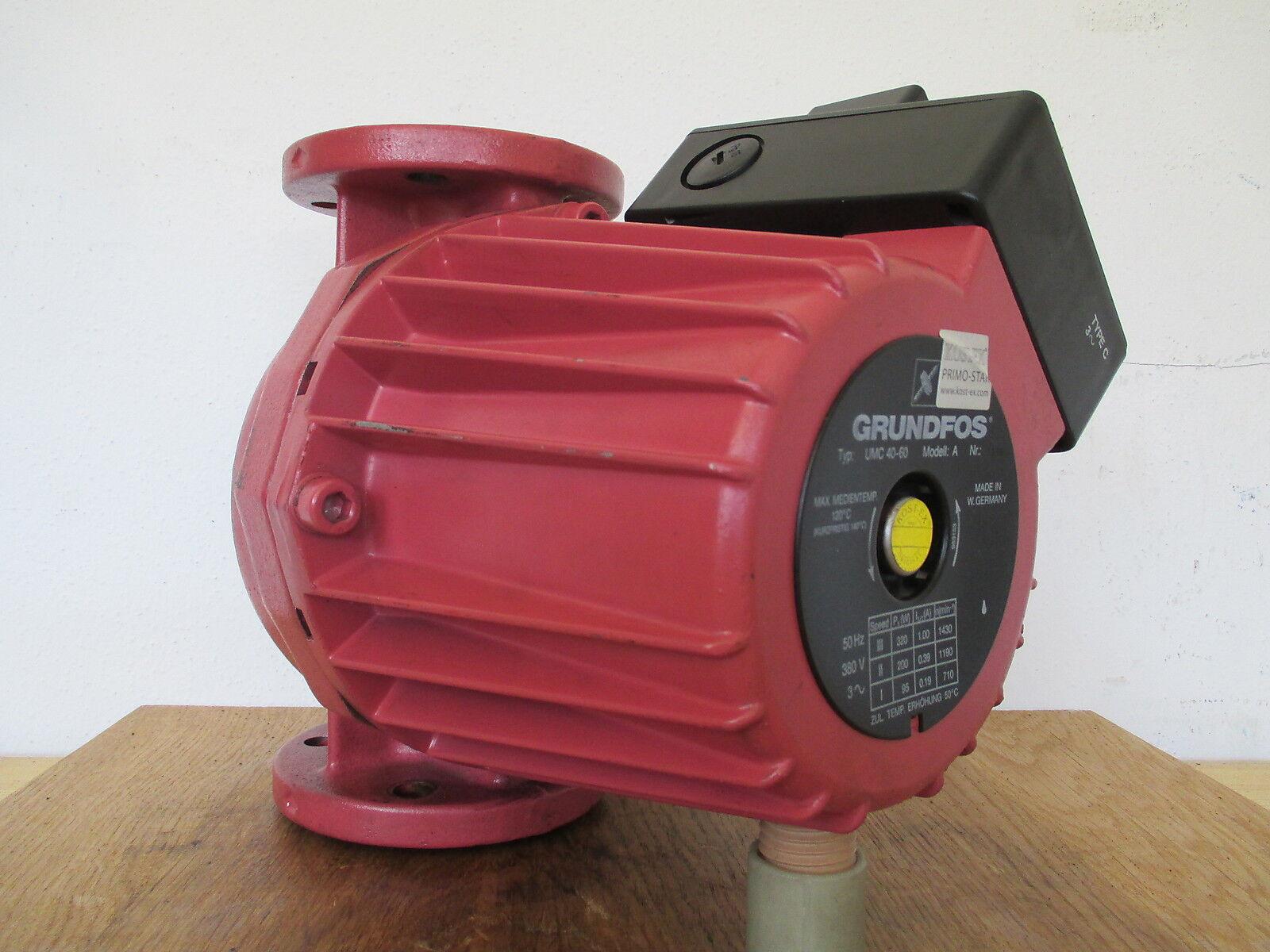 Grundfos Pumpe  UMC 40 - 60  Heizungspumpe Umwälzpumpe  3x380V  KOST-EX  P14 230