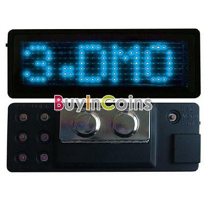 Blue LED Programmable Scrolling Name Message Badge Tag YUUS Display English Y