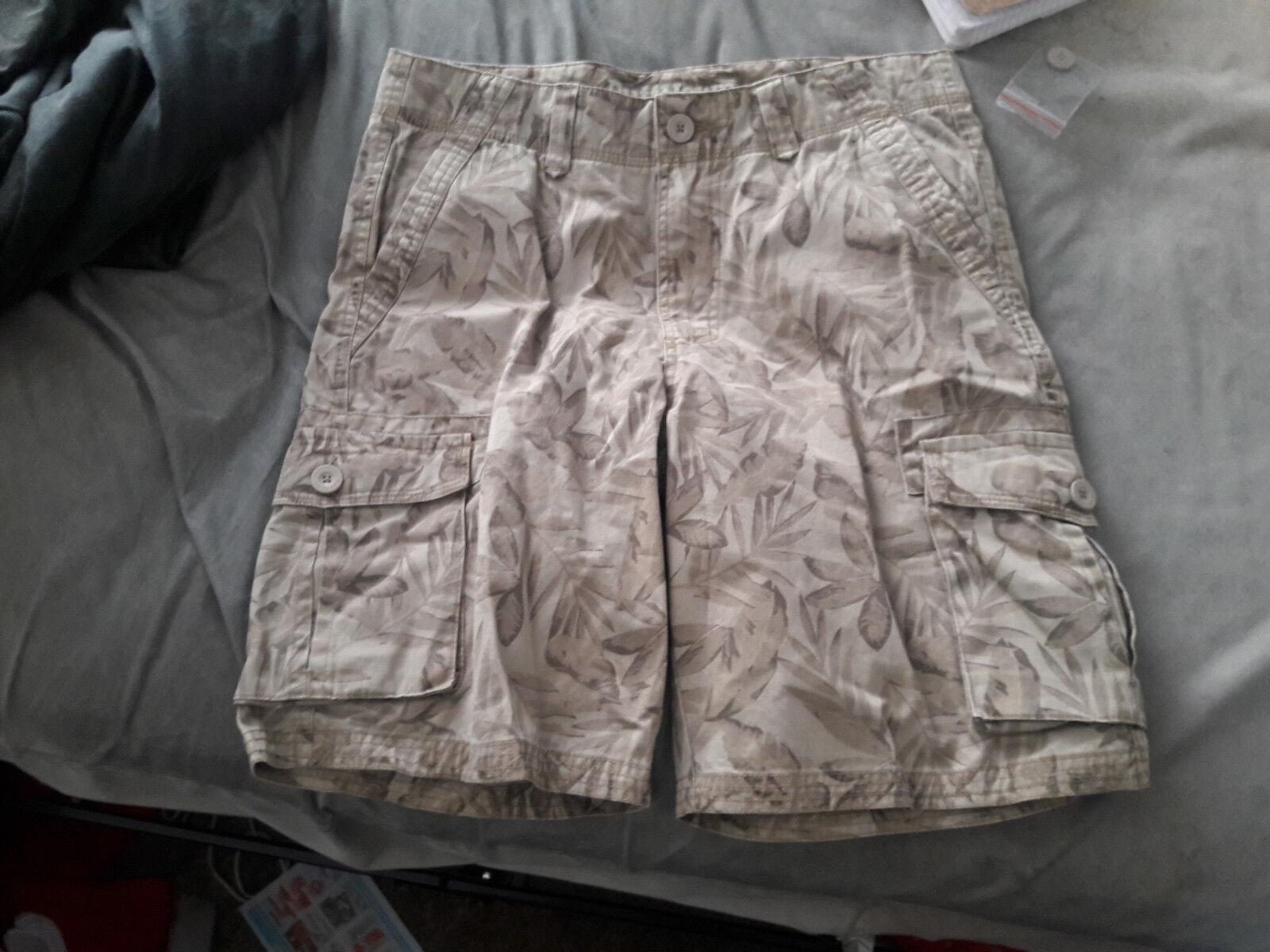 Lot 3 RuffHewn Cargo Men's Size 34 Khaki Surplus Shorts NWT  Cotton free shippin