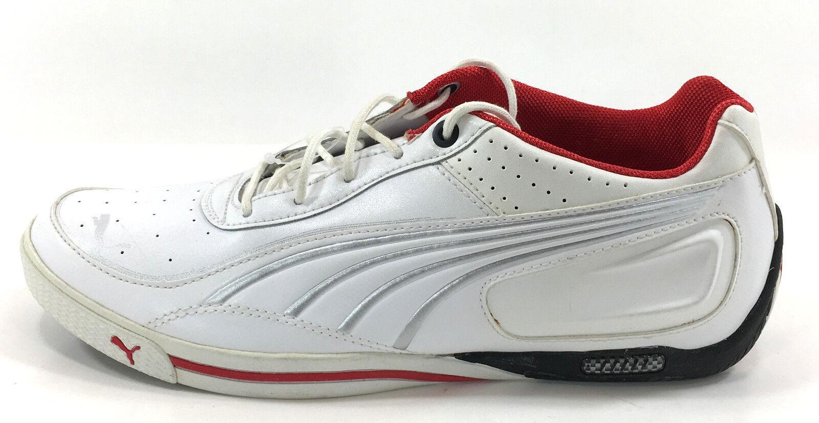 Zapatos Puma SL Street Lo casi como como como nuevo Basic Blanco/Rojo Zapatillas Tamaño 8.5 e55ab1