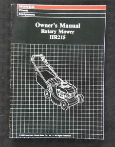 GENUINE-HONDA-HR215-ROTARY-MOWER-OPERATORS-OWNER-039-S-MANUAL-MINT-SHAPE