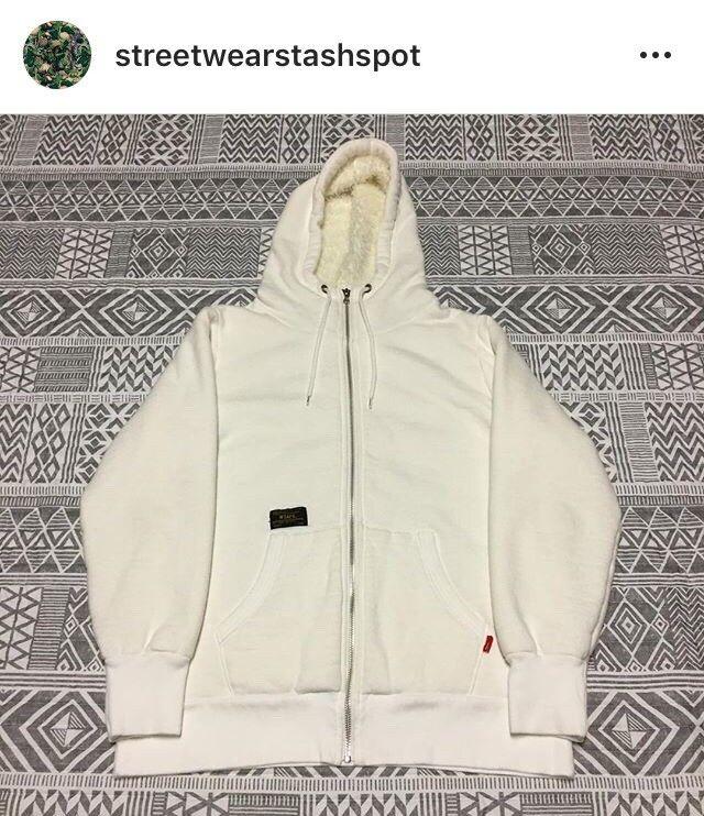 Wtaps Fur Lined Zip Up Hoodie Größe Medium