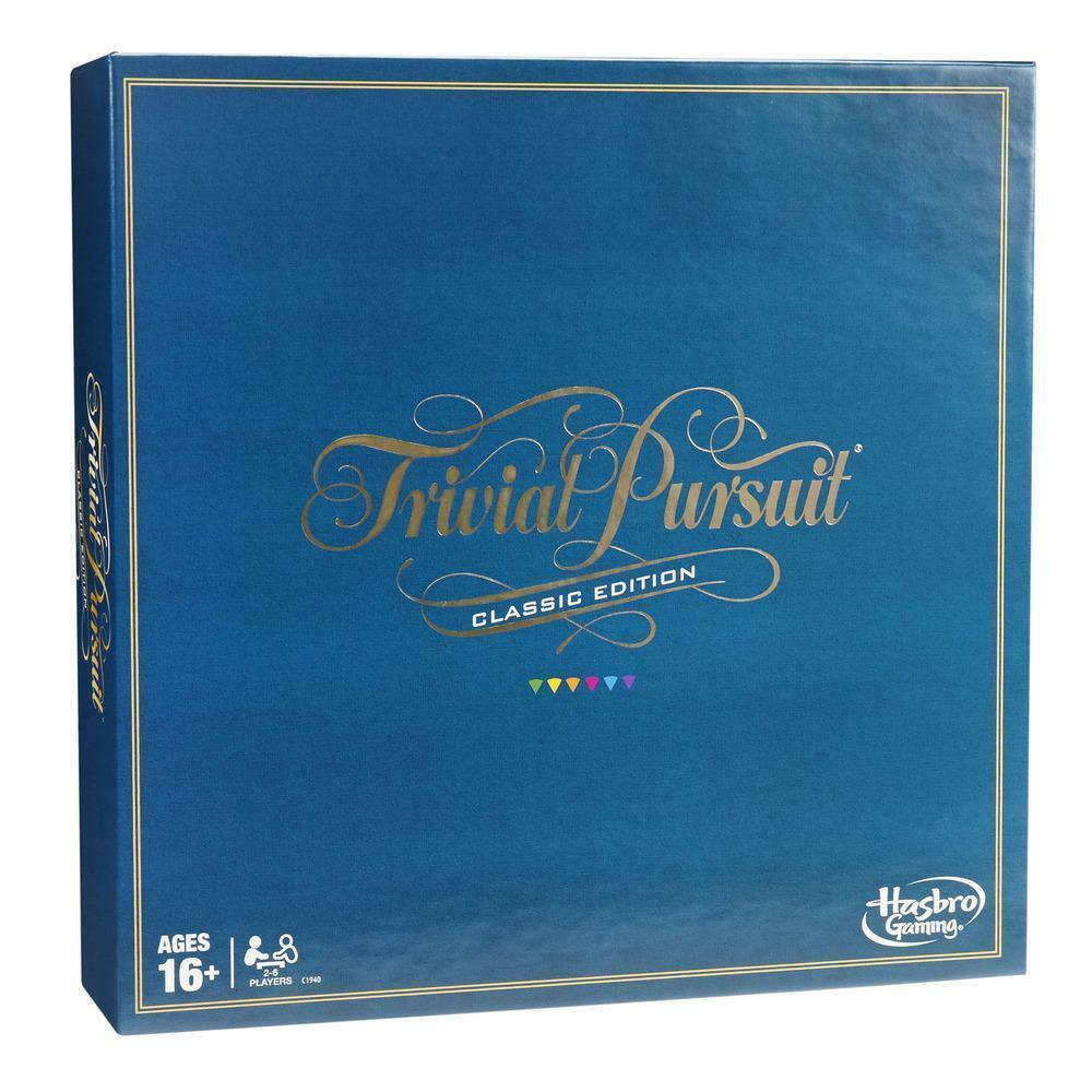 Hasbro Trivial Pursuit Classic Edition Adult Board Game 2400 Questions Ages 16+