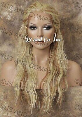 Latest Lace Front WIG Pale Blonde Mix Wig Futura Fiber Heat Safe WBYV 613-27