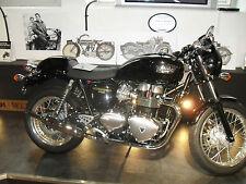 Triumph THRUXTON Exhausts Genuine Norman Hyde Classic Toga CHROME silencers