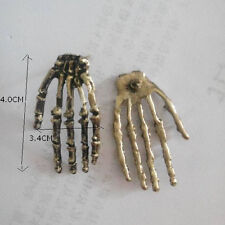 1 Pair Stylish Punk Gothic Skeleton Skull Hand Palm Ear Stud Retro Earrings Gift
