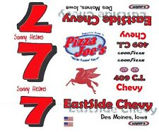 #7 Sonny Helms EASTSIDE CHEVY 1/24th - 1/25th Decals