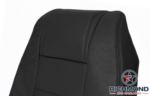 Driver Side Lean Back Genuine Leather Seat Cover Black 2008 Ford Mustang V6