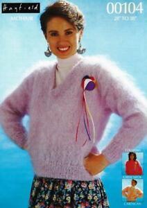 Ha00104a Ladies Mohair Cardigan Jacket Sweaters Knitting Pattern