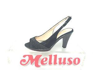MELLUSO-SANDALO-DONNA-NERO-CON-STRASS-TACCO-H-8-CM-MADE-IN-ITALY