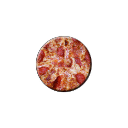 Fromage et Pepperoni Pizza Pie-Metal Lapel Hat Round PIN TIE TACK Pinback