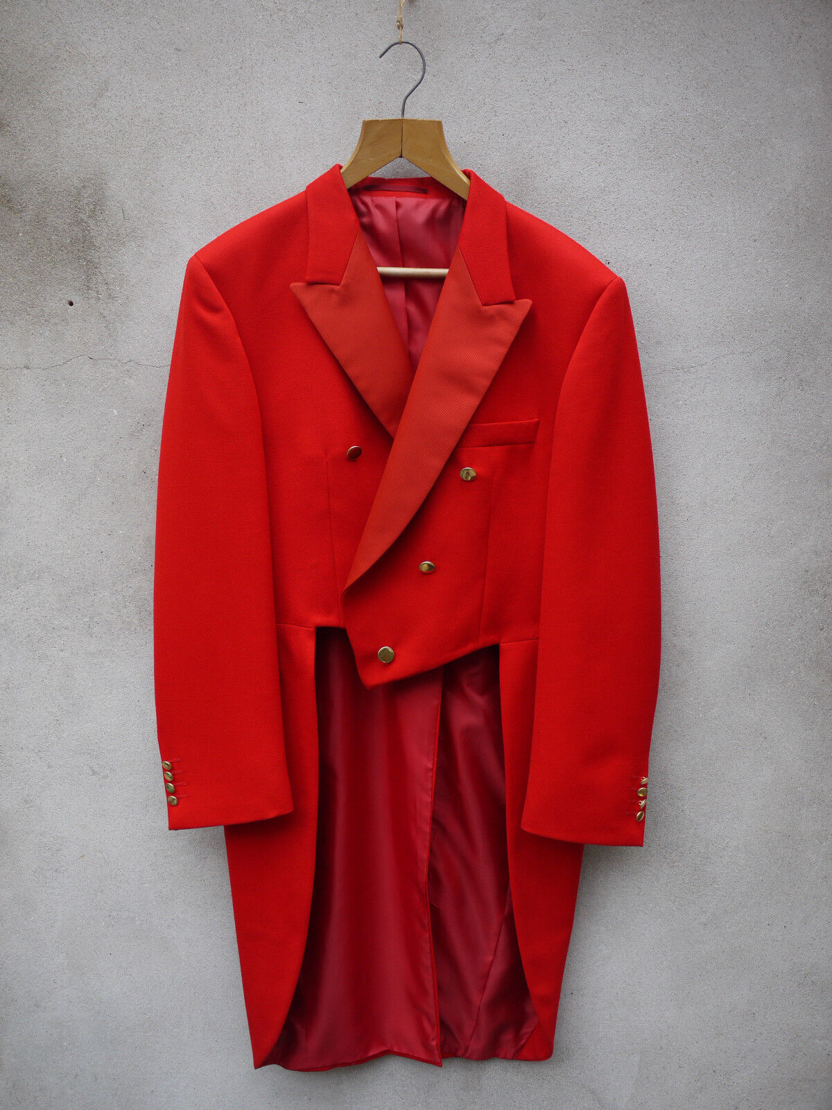 RED TOASTMASTER TAILCOAT 46