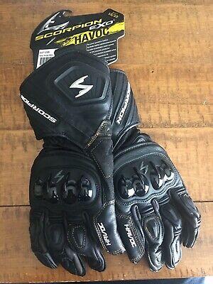 Scorpion Mens EXO Havoc Gauntlet Sport Leather Riding Motorcycle Gloves LG Black