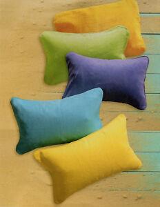 strandkissen reisekissen kissen aufblasbar nackenkissen kopfkissen 5 farben top ebay. Black Bedroom Furniture Sets. Home Design Ideas