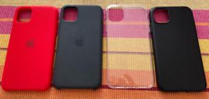 Lot de 4 coques iPhone 11 : 2 coques Apple Silicone Case + Spigen + ESR