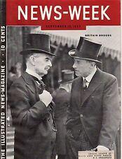 1937 Newsweek September 13 War in Shanghai; Nazis prepare for Fascist Messiah
