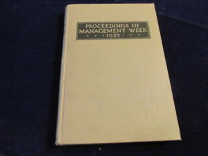 Proceedings-of-Management-Week-1925-OSU-Ohio-State-University-Book-Business-S90