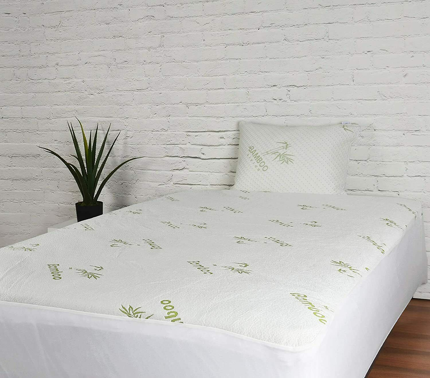 Bamboo Mattress Protector Water Resistant Hypoallergenic Ultra Soft Breathable Ebay