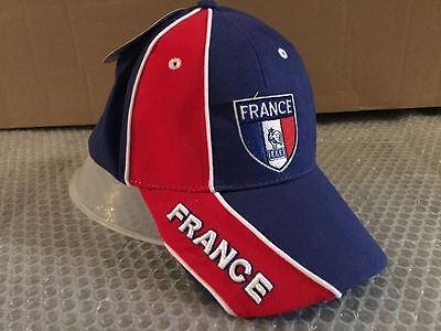 Rispettoso Cappello Bandiera Francia Visiera Cappellino France Hat Francese Delizioso Nel Gusto