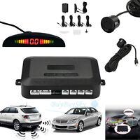 4 Sensors Audio Alarm Reverse Parking Radar Buzzer Led Display Car Parking Voice
