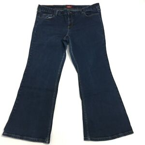 Dickies-Womens-Blue-Denim-Bootcut-Jeans-Size-20-Inseam-29-034