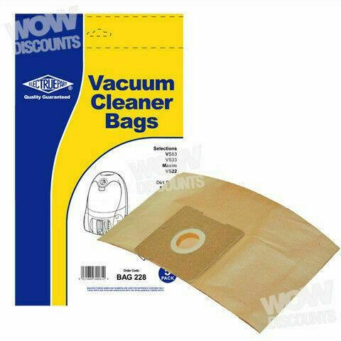 VS33 Electruepart  Vacuum Dust Bags to fit Vax VS03 Pack of 5