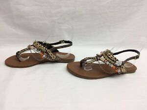14e7d3c85f9 Image is loading Shi-by-Journeys-Beachside-Thong-Sandals-Brown-Size-