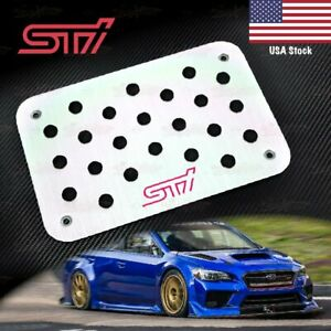 Aluminium Carpet Floor Mat Foot Rest Pedal Plate For Sti Impreza Wrx Gt Brz S209 Ebay