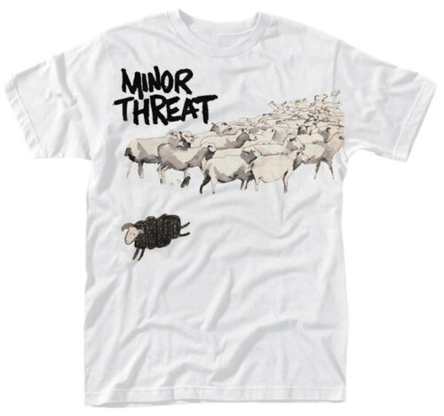 T-Shirt NEW /& OFFICIAL! Minor Threat /'Out Of Step/' White