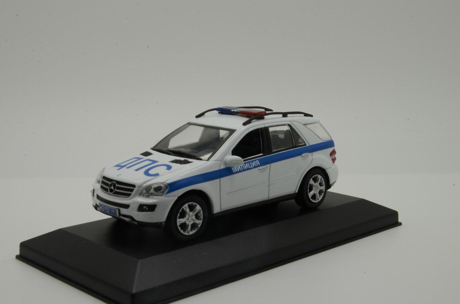 rara Mercedes ML milicya ruso coche de policía Hecho a Medida 1/43